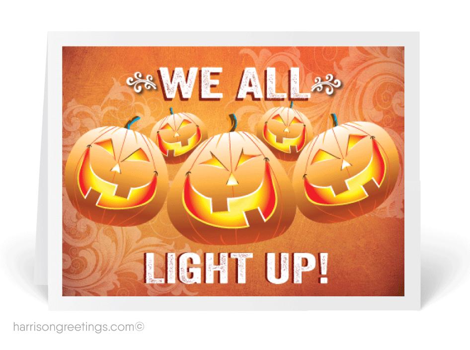we all light up happy halloween