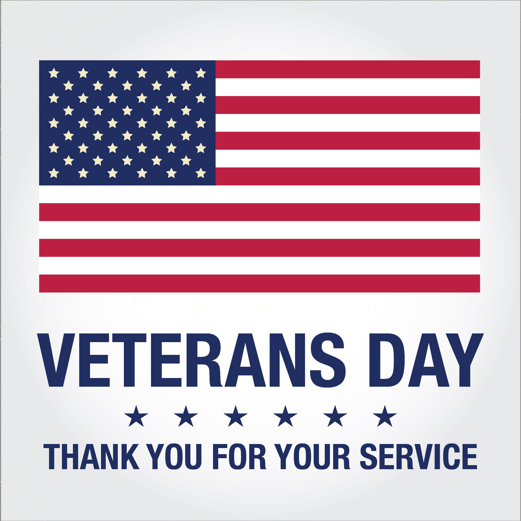 Veterans Day Thank You For Your Service Card