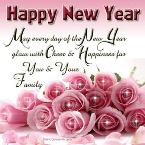 may every day of the new year glow with cheer and happiness for you and your family happy new year