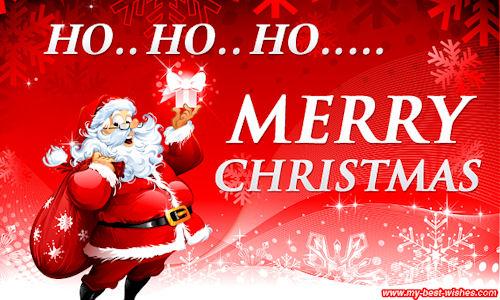 Ho Ho Ho Merry Christmas.Santa Claus Wishes You Ho Ho Ho Merry Christmas Image