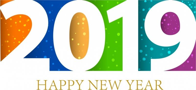 Happy New Year Logo 2019 96