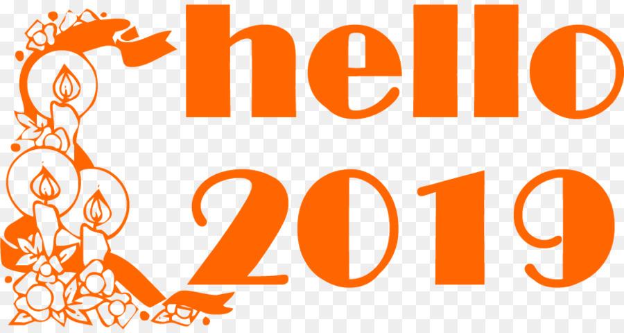 Hello 2019 Happy New Year Clipart