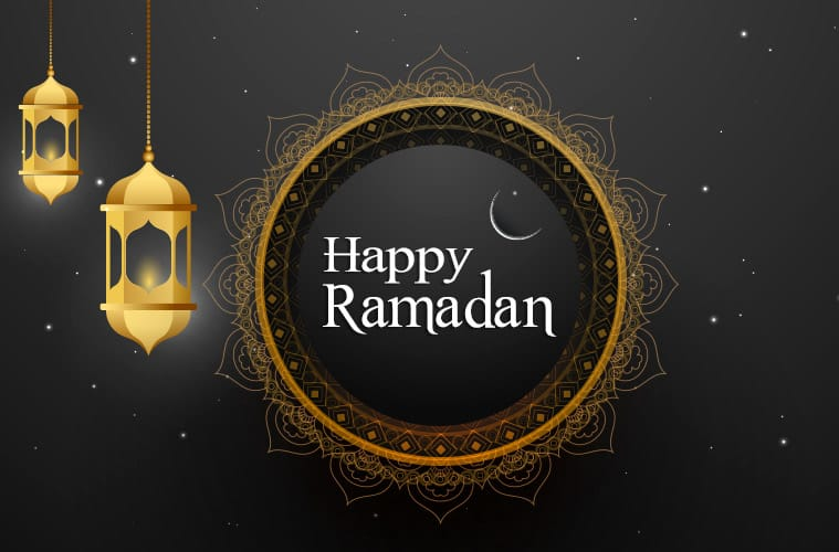 happy ramadan greeting card