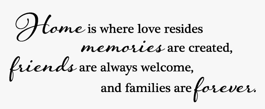 Home Is Where Love Resides Memories Are Created Friends Are Always Welcome And Families Are Forever